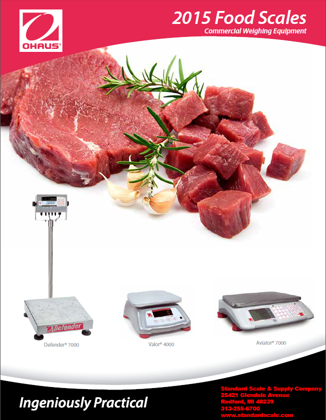 Ohaus Food World Catalog